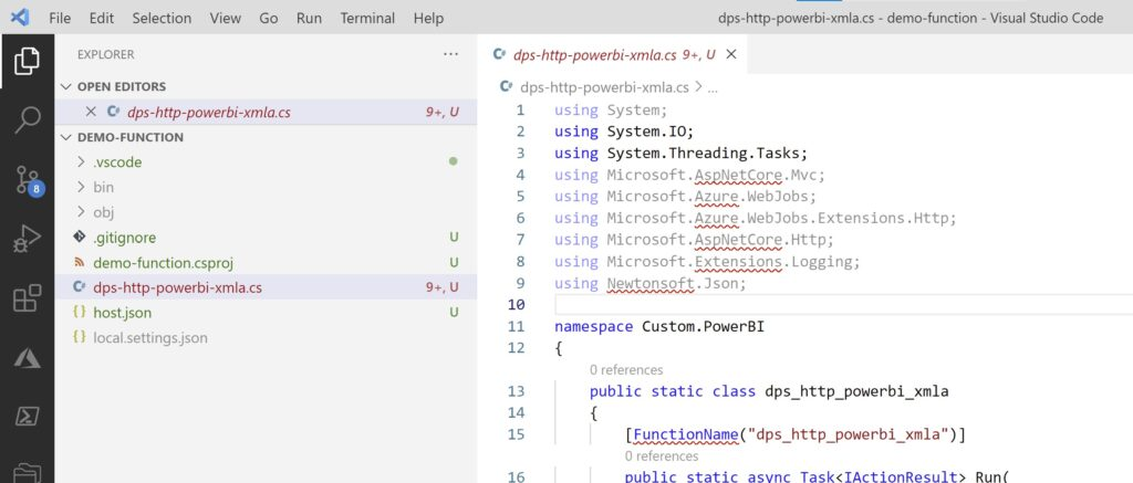 C# Function template files