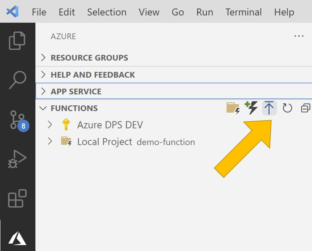 Deploy function to Azure